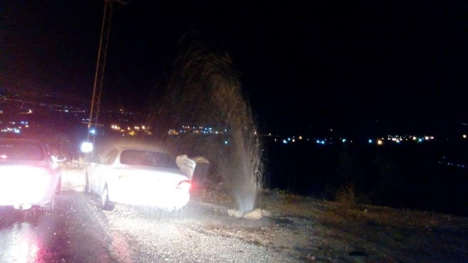 """جرش : انفجار ماسورة مياه في قرية دير الليات و المياه """" لا تستجيب """" (صورة)"""