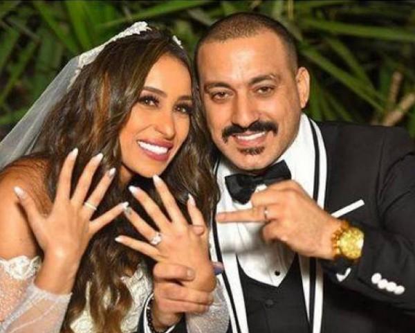 بالفيديو ..  والصور ..  الأول من حفل زفاف محمد دياب ومذيعة مصرية العائلي