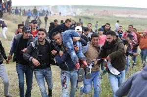 استشهاد شاب و11 مصابا برصاص الاحتلال على حدود غزة
