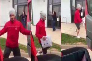 فيديو: ساعي بريد يبهج عملاءه بالرقص