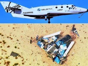 """بالفيديو .. تحطم طائرة إماراتية - بريطانية مخصصة للسفر إلى الفضاء """" صورة """""""