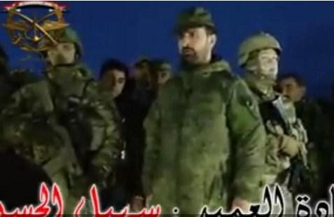 بالفيديو ..  أشهر ضباط الجيش السوري تحت حراسة روسيّة مباشرة !