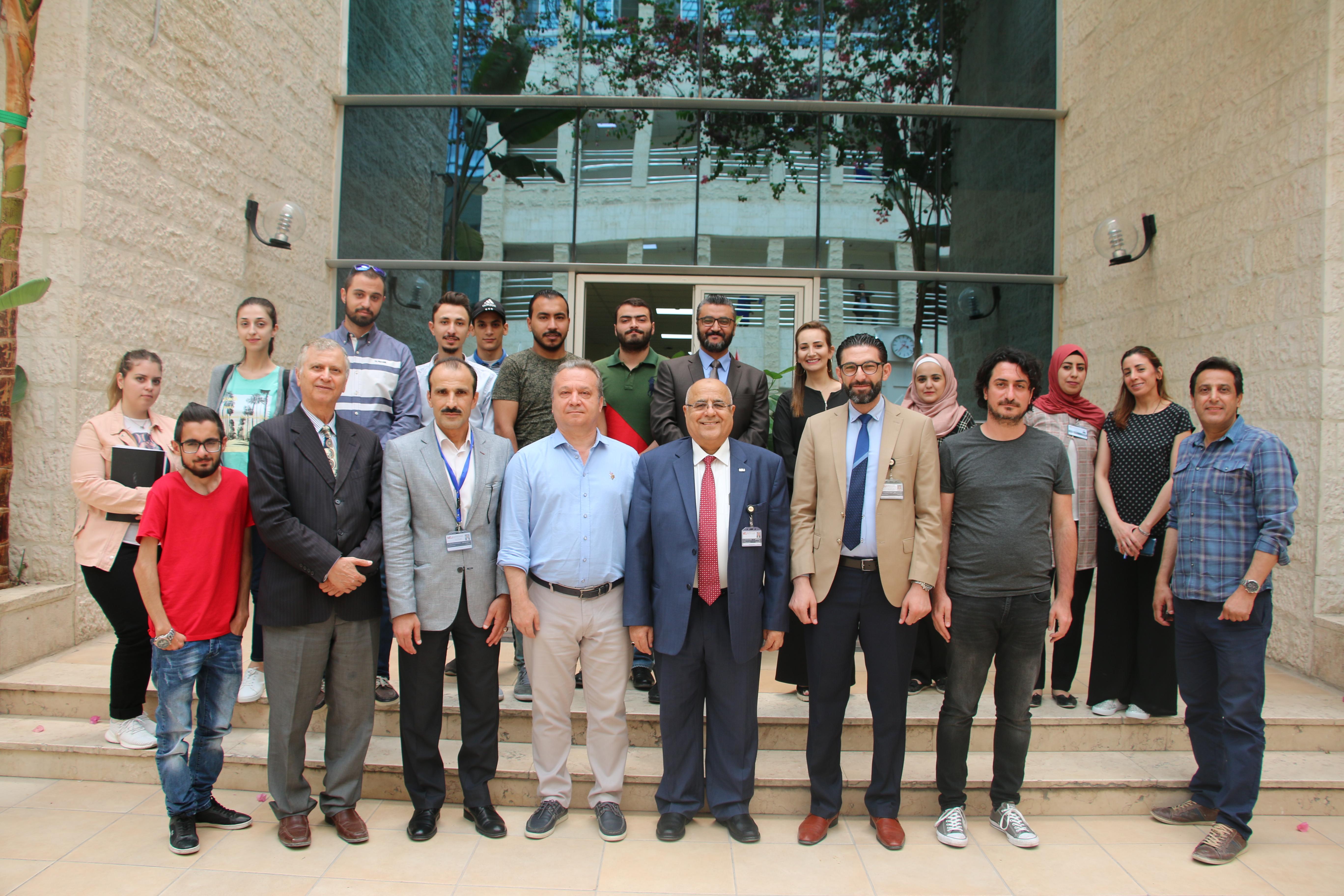 الشرق الأوسط  تستضيف محاضرات حول إدارة الأعمال ضمن مشاريع ايراسموس بلس
