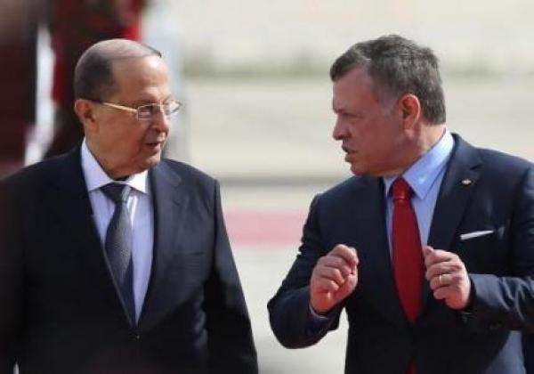 الملك يؤكد لعون استعداد الأردن لتقديم كل أشكال المساعدة