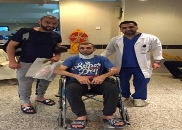بالصور ... احمد هايل : الحمد لله وضعي مستقر ... و جماهير العربي تزوره في المستشفى