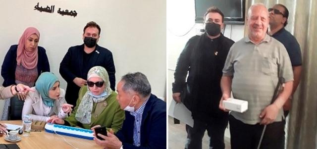 قسم البصريات في عمان الأهلية ينظم دورة تدريبية لمدرسي جمعية الضياء و يوزع أجهزة قارئة على المكفوفين