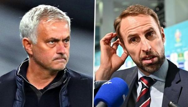 """بسبب """"الوحش""""  ..  مورينيو يسخر من عيون مدرب منتخب إنجلترا"""