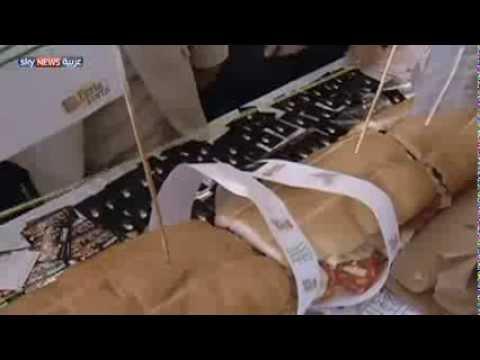 بالفيديو.. أكبر شطيرة في أميركا الجنوبية