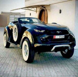 بالصور..أغرب موستنج في العالم تظهر في الامارات