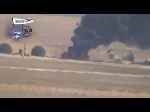 بالفيديو.. لأول مرة : تدمير مروحية للنظام السوري بصاروخ ''كورنيت''
