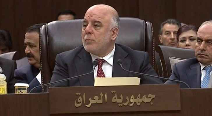 العبادي: لا تكتمل فرحتنا بتحرير العراق من داعش إلا بعد القضاء على الارهاب في كافة الدول العربية