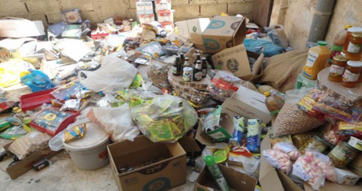 إتلاف 860 طناً من المواد الغذائية بالغباوي