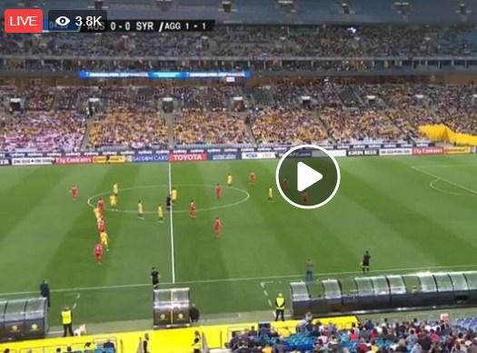 بالفيديو  ..  شاهد البث المباشر لمباراة سوريا و استراليا 1-1