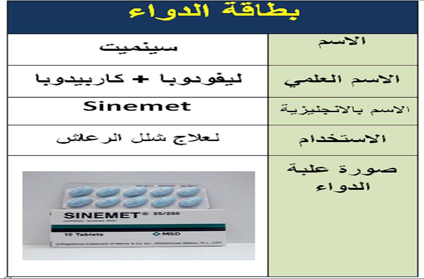 """فقدان دواء """"Sinemet 25/250"""" بالاسواق والمستشفيات  ..  والصحة لسرايا : العلاج متوفر  بكميات ويمكن صرفه بوصفة طبية"""