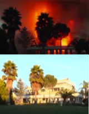 """سوريا : """"رستم غزالة"""" يحرق قصره لكي لا يقع بيد الثوار"""
