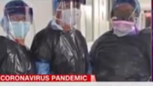 بالفيديو ..  مستشفيات في نيويورك تجبر الاطباء على ارتداء اكياس القمامة لعدم توفر كمامات ومستلزمات طبية