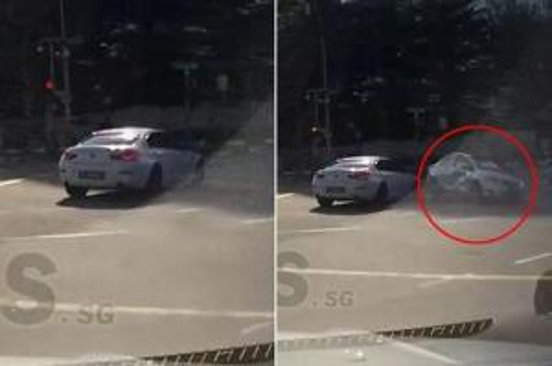 """بالفيديو """"حادث غريب  .. سيارة شبح ظهرت فجأة وتسببت بحادث ثم اختفت"""