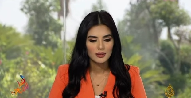 """بالفيديو ..  مذيعة الجزيرة """"لينا قيشاوي"""" تتعرض للإغماء على الهواء"""