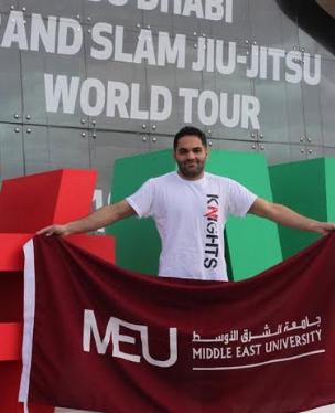 """"""" الشرق الأوسط """" تتألق وتخطف المركز الخامس  في بطولة غراند سلام أبوظبي للجوجيتسو"""