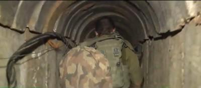 بالفيديو ..  تفاصيل جديدة عن النفق الذي اكتشف بين قطاع غزة وجنوب اسرائيل