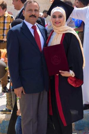 المهندسة تمارا محمد المساعدة مبارك التخرج