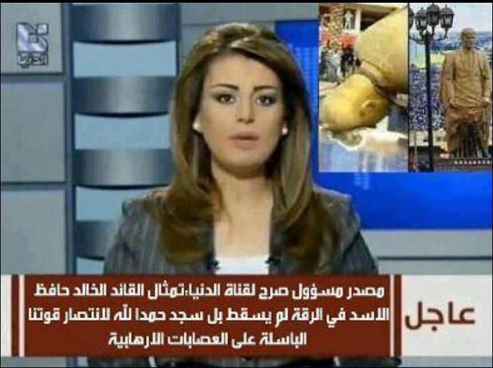 قناة الدنيا: تمثال الأسد لم يسقط بل سجد شكراً لله ..  فيديو