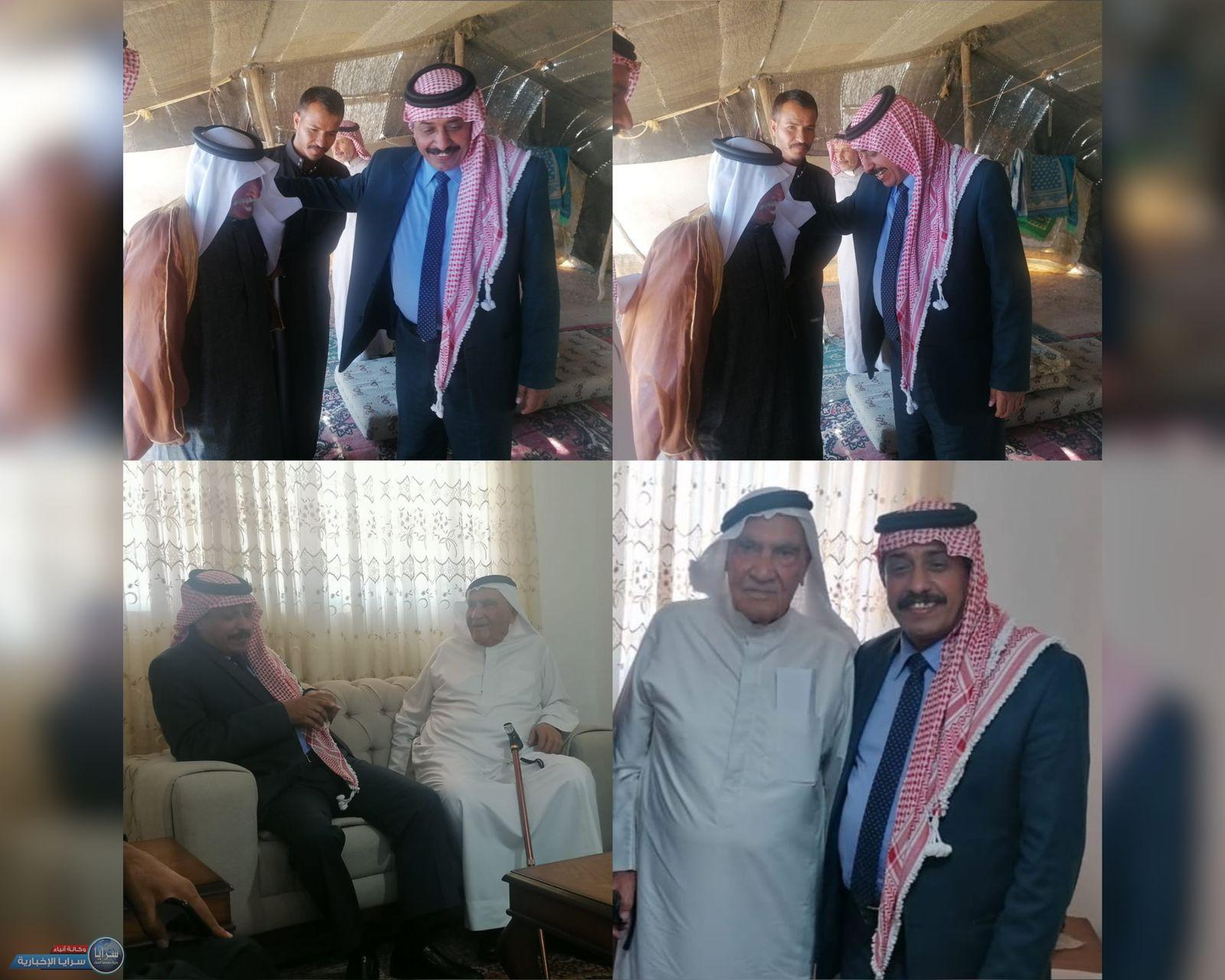 الحجايا يزور الشيخ فهد المراغية للاطمئنان على صحته و الكاتب والمؤرخ حامد النوايسة