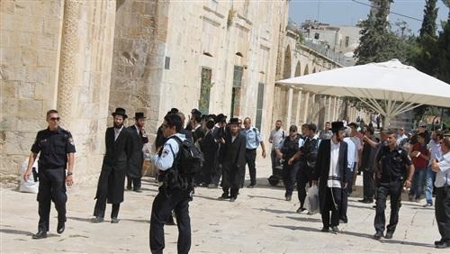 مستوطنون يدخلون الحرم الإبراهيمي ويرفعون الأعلام الإسرائيلية على جدرانه
