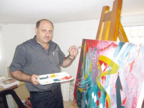 معرض مشترك للفن التشكيلي في جامعة اليرموك