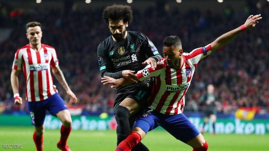 ليفربول يسقط على أرض أتلتيكو مدريد في ذهاب ثمن النهائي
