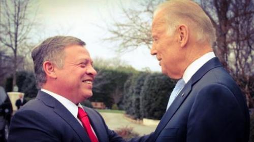 بايدن يؤكد للملك تضامن أمريكا التام مع الأردن ودعم حل الدولتين