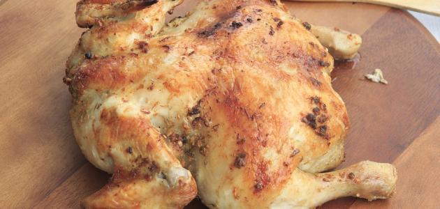 طريقة الدجاج في القصدير