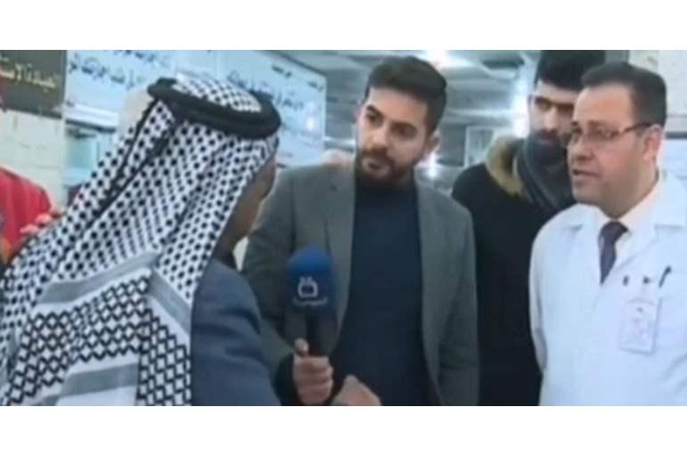 """شاهد بالفيديو  ..  """"مُسن عراقي"""" يشكو من الظلم فمات على الهواء مباشرة  ..  لقطات مؤثرة"""