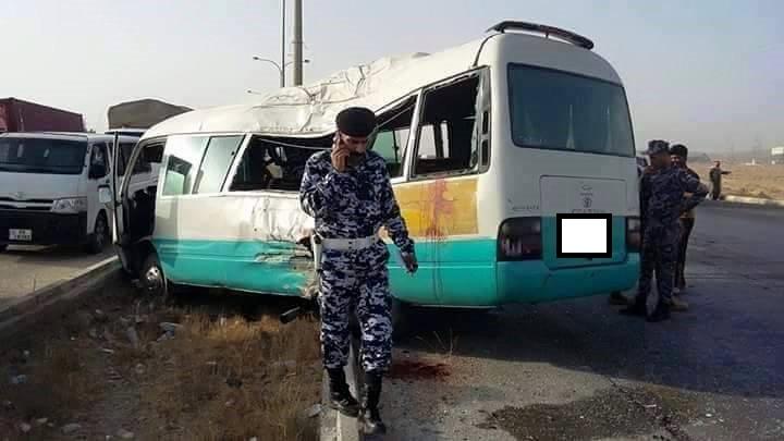 10 اصابات بحادث سير مروع على طريق المشيرفة في الزرقاء