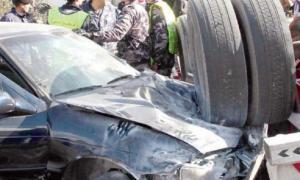 الكرك : وفاتان بحادث تصادم بين مركبتين