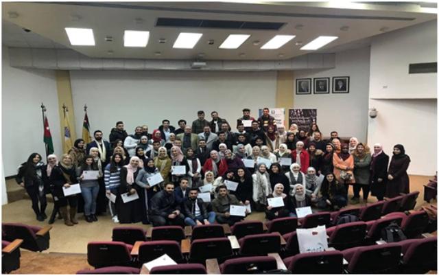 مشاركة طلبة هندسة العمارة بجامعة عمان الأهلية  بورشة العمارة البارامترية