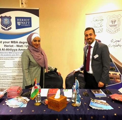 جامعة عمان الأهلية تشارك في معرض الشرق الأوسط وشمال أفريقيا الثاني للتعليم العالي