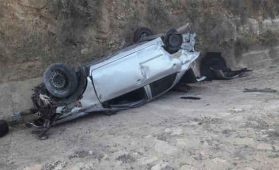 إصابة (12) شخصاً اثر حادث تدهور في محافظة الكرك