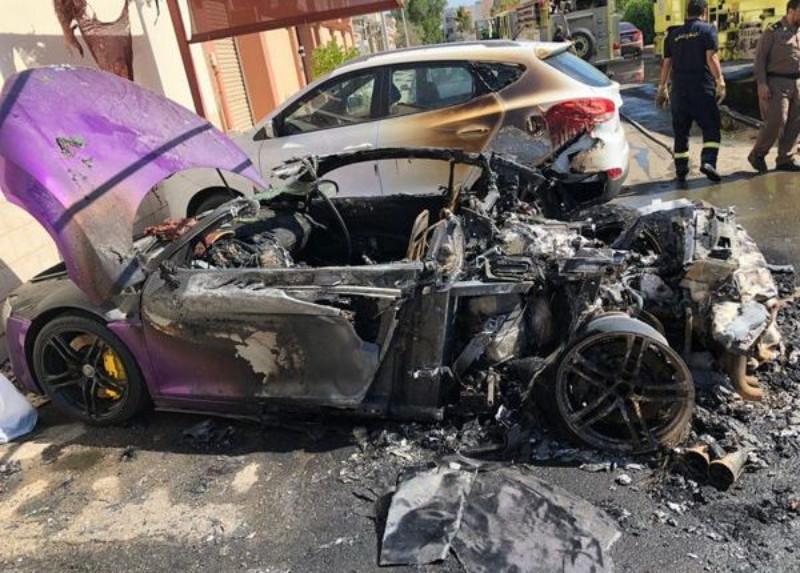 ما هو سبب احراق السيارة الفارهة بواسطة شخص متنكر في زي نسائي؟