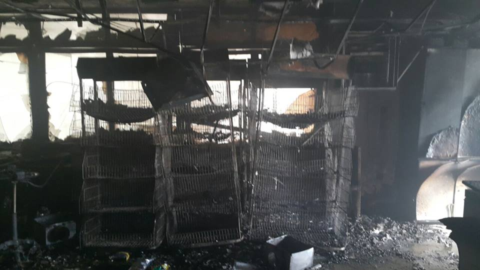 """بالصور ..  3 اصابات بحريق مصنع """"شيبس"""" في الزرقاء"""