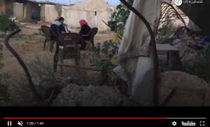 بالفيديو  ..  إفطار فلسطيني  تحت الركام