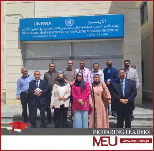 جامعة الشرق الأوسط MEU تلتقي الأونروا للحديث عن مستقبل تكنولوجيا التعليم