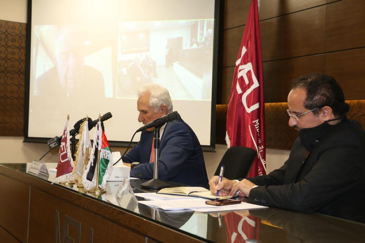 """جامعة الشرق الأوسط  MEUتنظم ندوة بعنوان """" التعليم العالي في الأردن: تحديات الحاضر، واستشراف المستقبل """" وذلك ضمن احتفال الجامعة بمئوية تأسيس الدولة"""