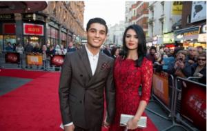 محمد عساف وخطيبته في مهرجان لندن السينمائي لافتتاح فيلم عن حياته