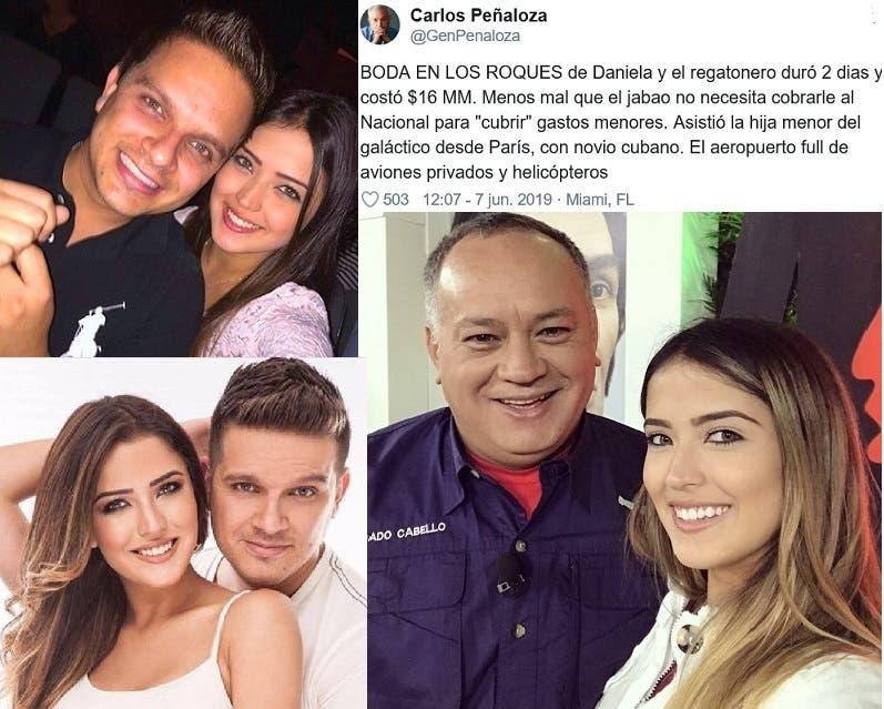 16 مليون دولار تكلفة زفاف ابنة الرجل الثاني في فنزويلا