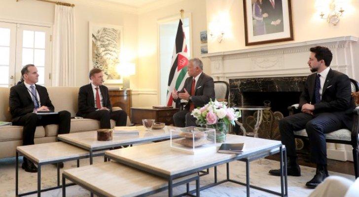 الملك يلتقي مستشار الأمن القومي الأمريكي