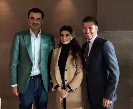 علا الفارس برفقة أمير قطر  تثير مواقع التواصل - صورة