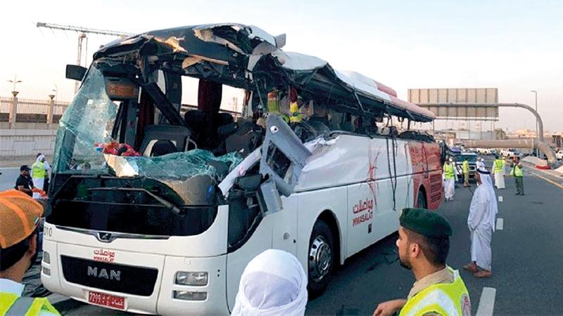 دبي : 7 سنوات سجناً و3.4 ملايين درهم دية عقوبة سائق «حافلة العيد»