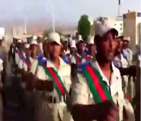 بالفيديو  ..  هتافات ضد بشار الأسد في الجيش السعودي