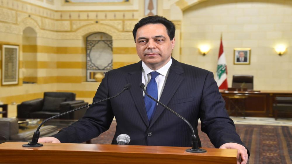 """حسان دياب يهدد بالامتناع عن إدارة الحكومة ويقول إن """"لبنان بخطر شديد"""""""